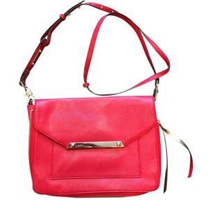 Stella & Dot red vegan leather crossbody bag